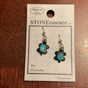 NWT Turquoise turtle earrings